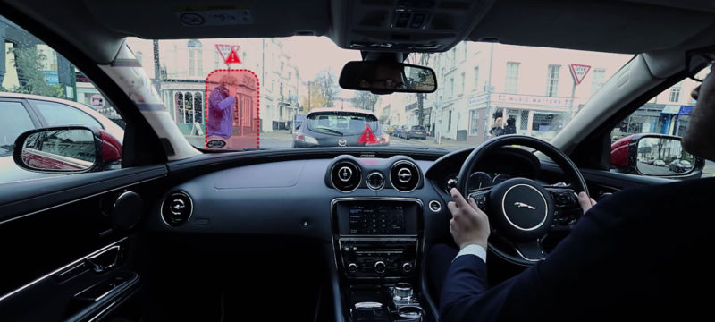 Watch Jaguar Land Rover's 360 Virtual Urban Windscreen & Ghost Car Navigation in action