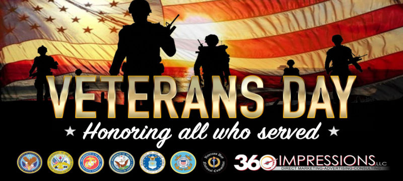Happy Veterans Day! Here's a list of Veterans Day Free Meals and Discounts.