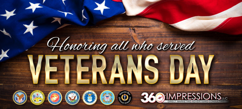 Veterans Day Free Meals and Discounts.